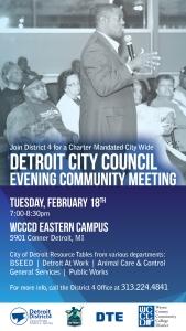 Community Meeting Announcement